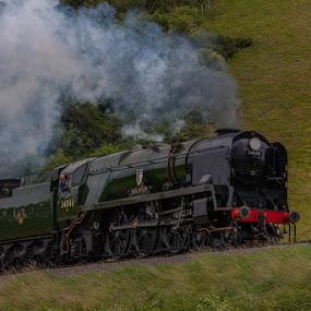 Braunton by Claes Wåhlin - Transportation Trains ( steam locomotive, england, trains, west somerset railway, steam, braunton,  )