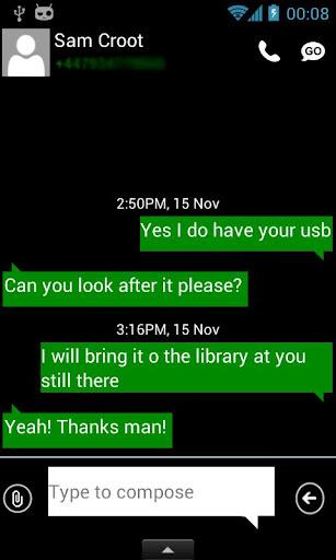 GO SMS Windows Phone 8 Emerald