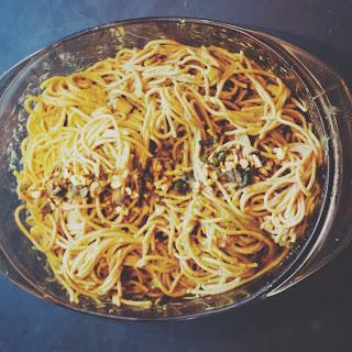 Vegan Spaghetti Carbonara.