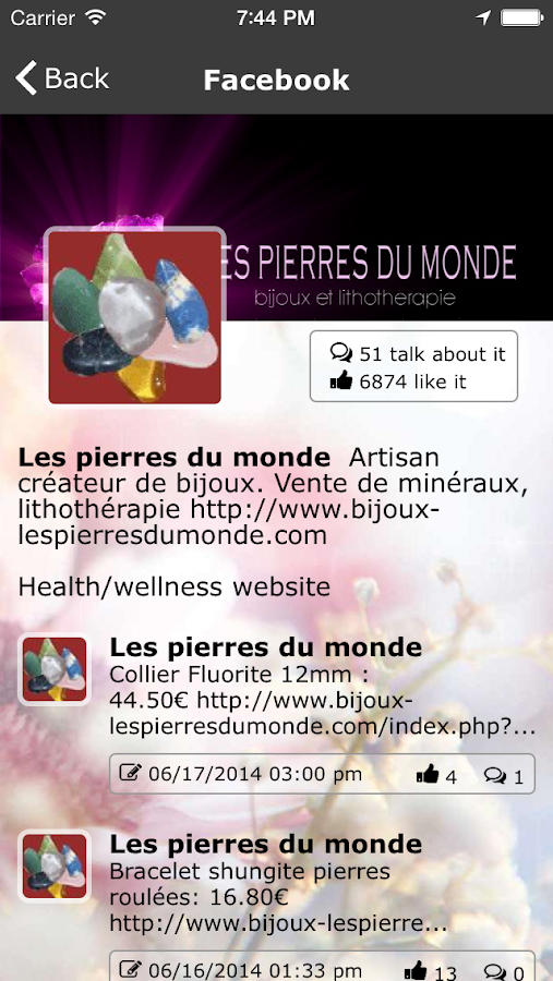 LES PIERRES DU MONDE- screenshot