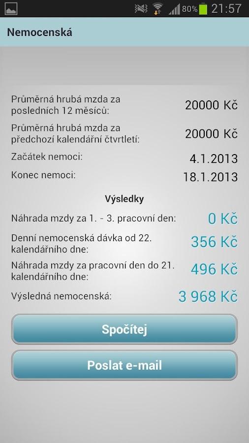 Finanční kalkulačky- screenshot