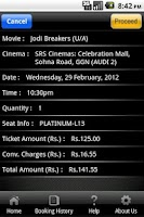 Screenshot of SRS Cinemas