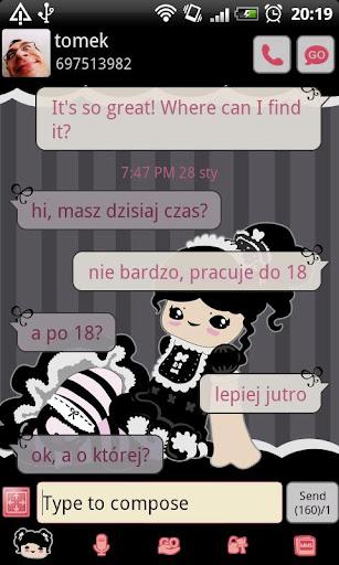 GO SMS Pro Gothic Lolita Theme