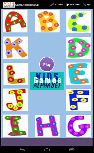 Games Alphabet Anak