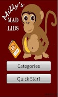 Screenshot of Milly's Mad Libs Lite