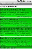 Screenshot of Forum Viewer for Warcraft