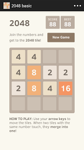 2048 basic screenshot
