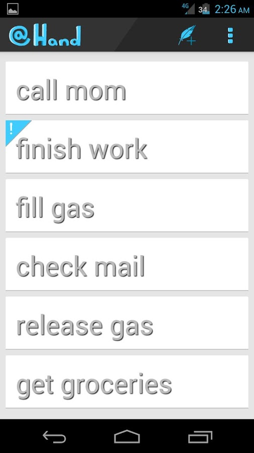 @Hand: To-Do & Task List - screenshot