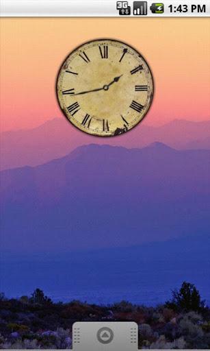 Vintage Analog Clock Widget