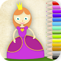 coloring princesses icon
