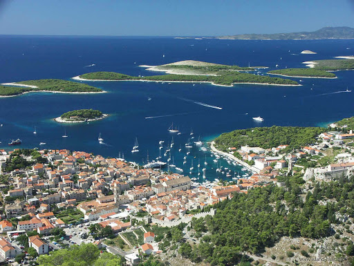Hvar-Croatia-Pakleni-islands - The Pakleni islands, off the coast of Hvar, Croatia, have numerous peaceful coves for diving, underwater fishing and swimming.