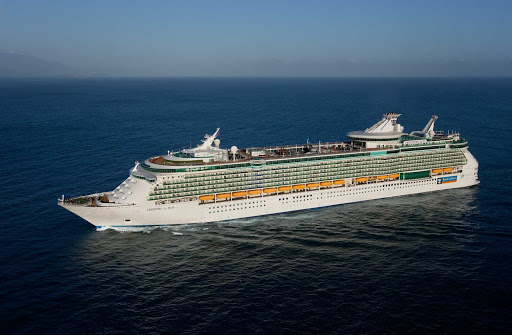 Freedom-of-the-Seas-aerial-2 - An aerial view of Royal Caribbean's Freedom of the Seas, which sails to the Eastern and Western Caribbean.