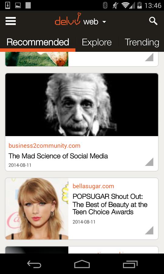 Delvv: Personalized News Feed - screenshot