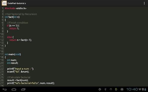CodePad Pro Screenshot 2