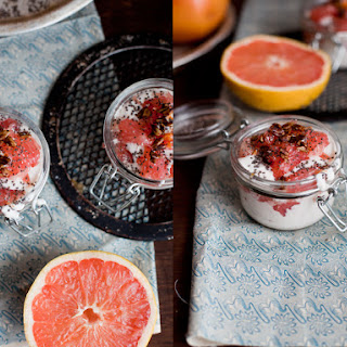Pink Grapefruit Cream Glasses.