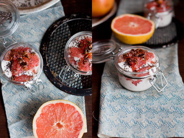 Pink Grapefruit Cream Glasses