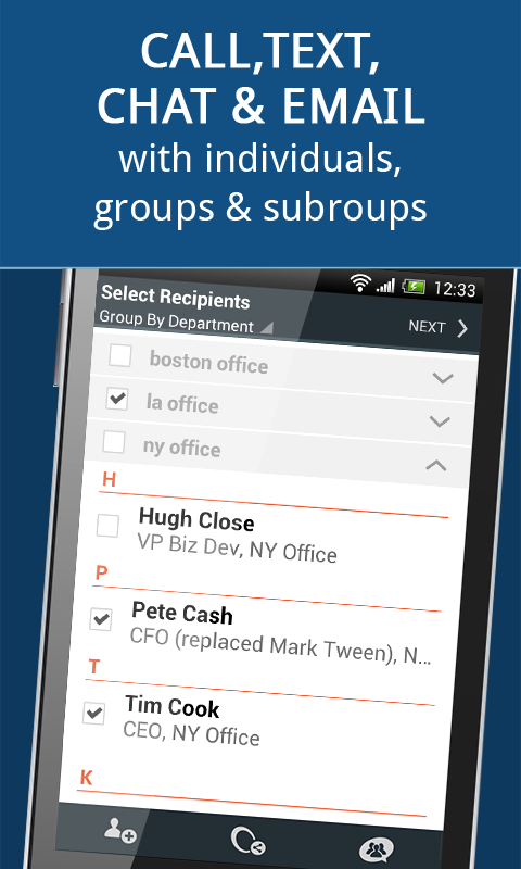 Communication for Groups - screenshot