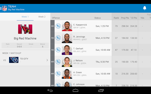 NFL Fantasy Football Screenshot 16