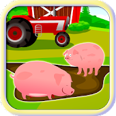 Pig Farm Brick Pet Fall Frenzy