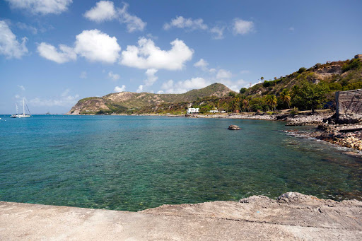 A cove of St. Eustatius offers a protected reef and perfect place for scuba diving, boating and swimming.