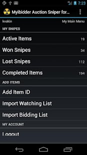 Myibidder Bid Sniper for eBay- screenshot thumbnail