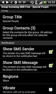 Group Incoming SMS- screenshot thumbnail