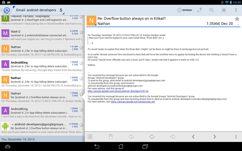 Aqua Mail - email app- screenshot
