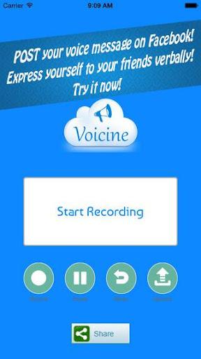 Voicine - Sound recorder email