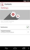 Screenshot of Vodafone Contacts