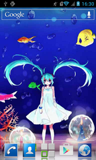 Anime girl at the seafloor LWP
