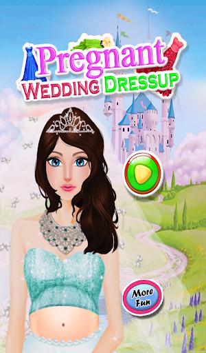 妊娠中の女の子の結婚式のゲーム