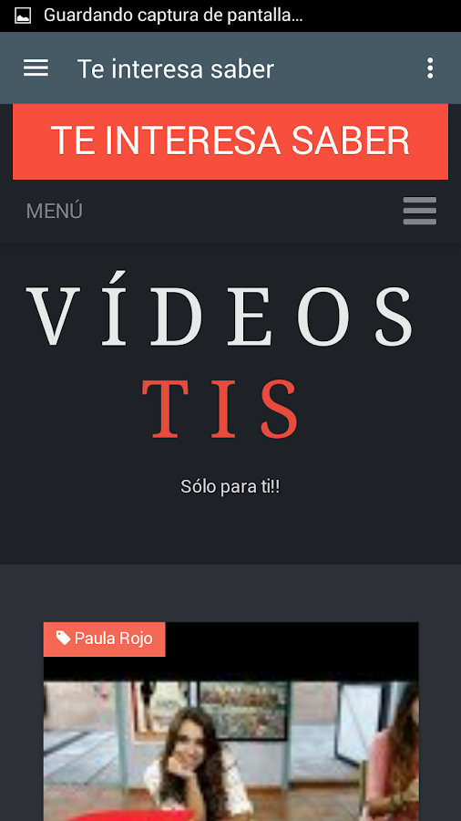 Te interesa saber - Vídeos- screenshot