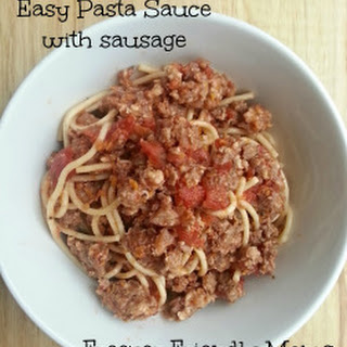 Easy Pasta sauce with Sausage