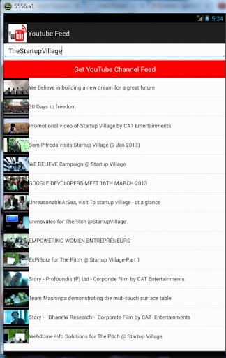 Youtube Video Feed