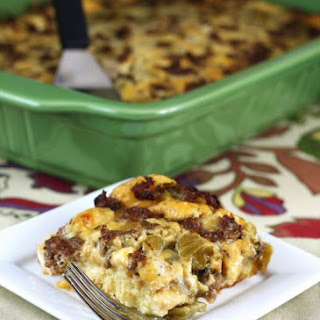 Sausage and Egg Breakfast Casserole.