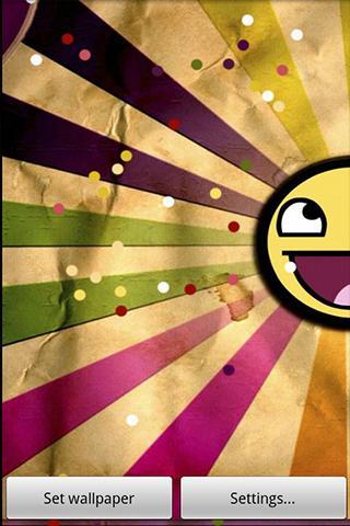 Animated wallpaper Happy Sun