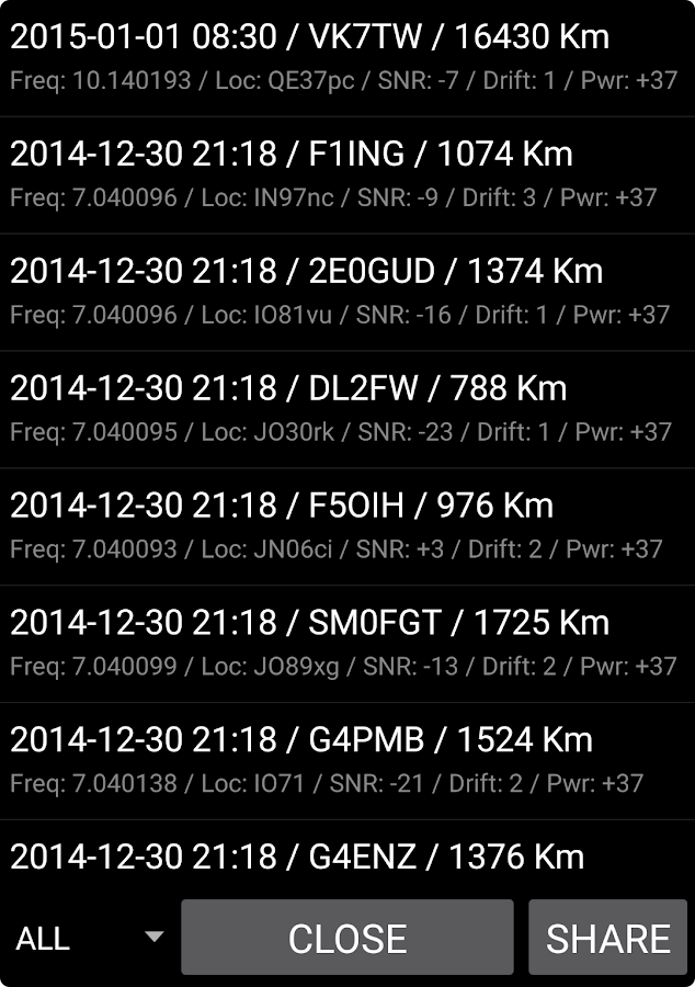 WSPR Beacon for Ham Radio- screenshot