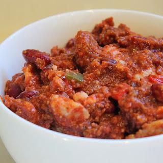 Aunt Bee's Three Meat Chili.