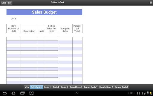 Product Sales Goals