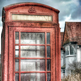 Old red telephone box by Joanna Holland - Uncategorized All Uncategorized (  )