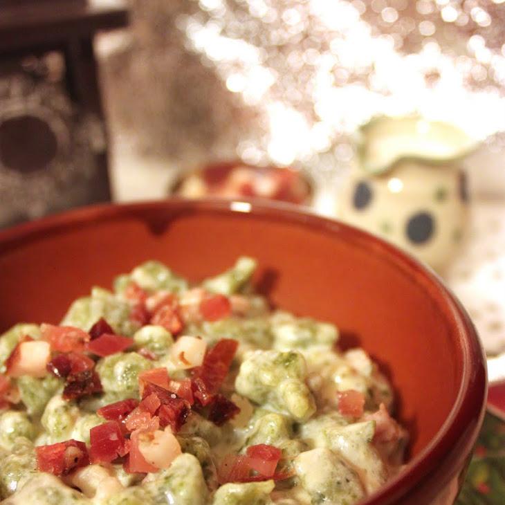 SpäTzle (German Dumplings) with Ham and Spinach Recipe