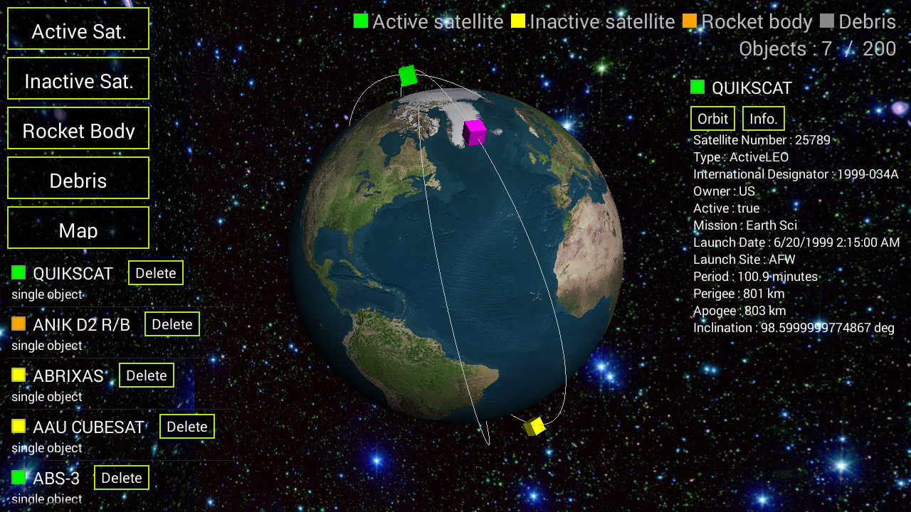 Satellite 3D- screenshot