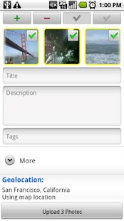 upStream: Flickr Uploader - screenshot thumbnail