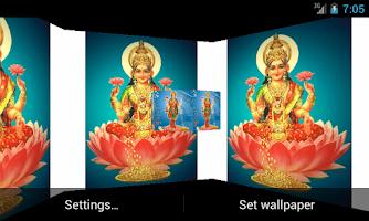 Screenshot of Maa Laxmi 3D Live Wallpaper