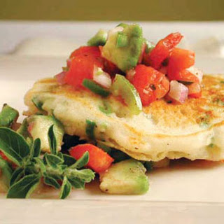 Green Onion Pancakes with Tomato-Avocado Salsa