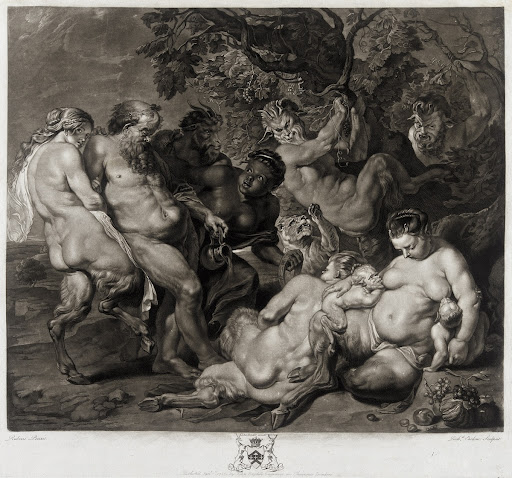 Satyresses and Satyr with Silenus