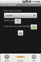 Screenshot of Smart Call Widget