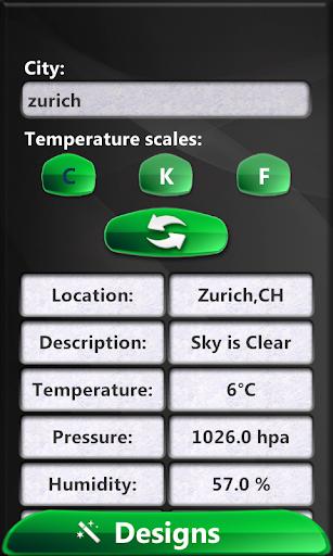 有光澤 時鍾天氣預報微件