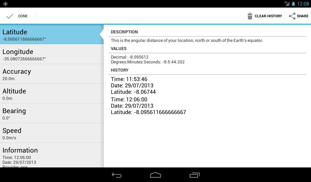 Latitude Longitude Coordinates- screenshot