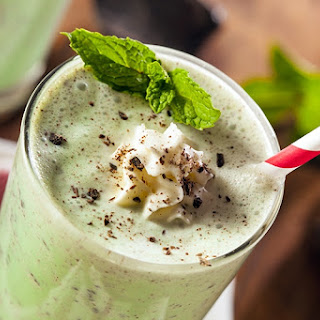 Creamy Frozen Grasshopper.